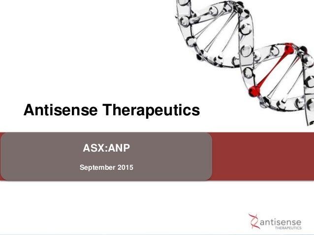 Antisense Therapeutics ASX:ANP September 2015