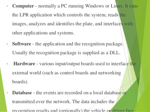 Automatic number pate recognition system information technology essay
