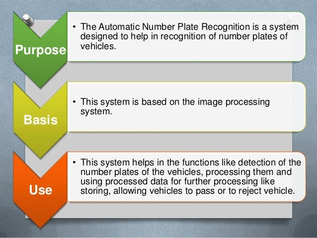 automatic number plate recognition Xem video  automatic license plate recognition or anpr system is used to track vehicle number plate at entry and exit points in this system barrier will open.