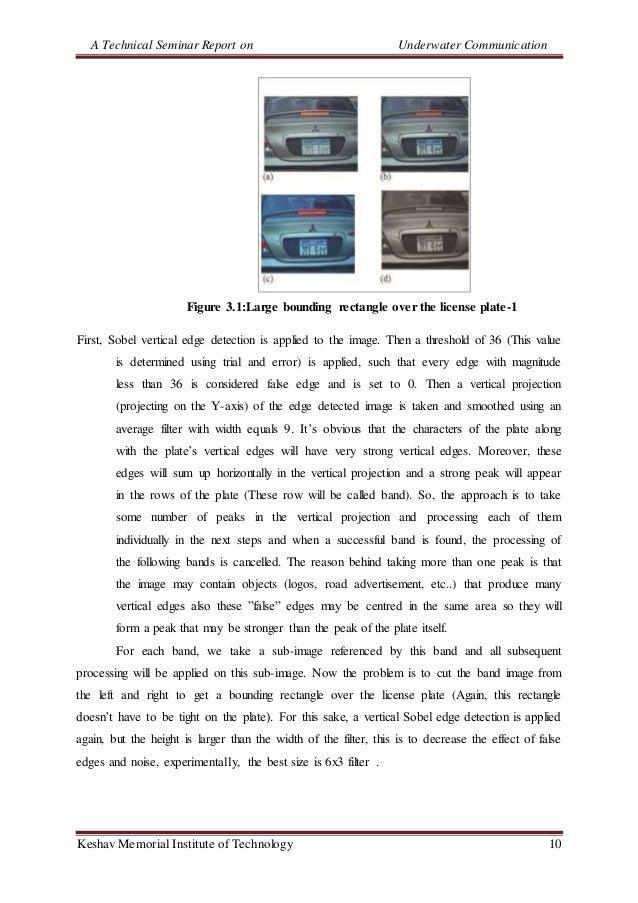 A Technical Seminar Report on Underwater Communication Keshav Memorial Institute of Technology 10 Figure 3.1:Large boundin...