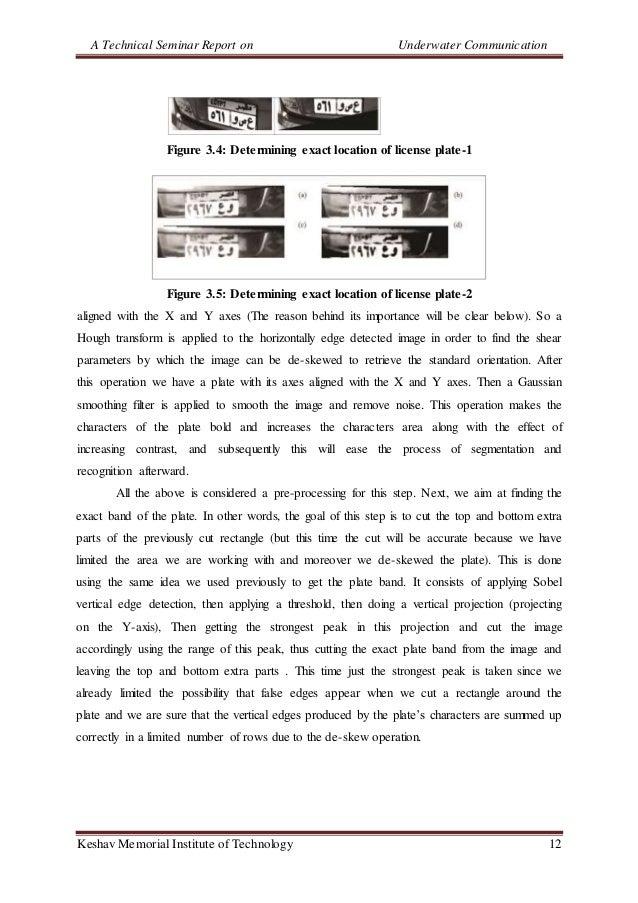 A Technical Seminar Report on Underwater Communication Keshav Memorial Institute of Technology 12 Figure 3.4: Determining ...
