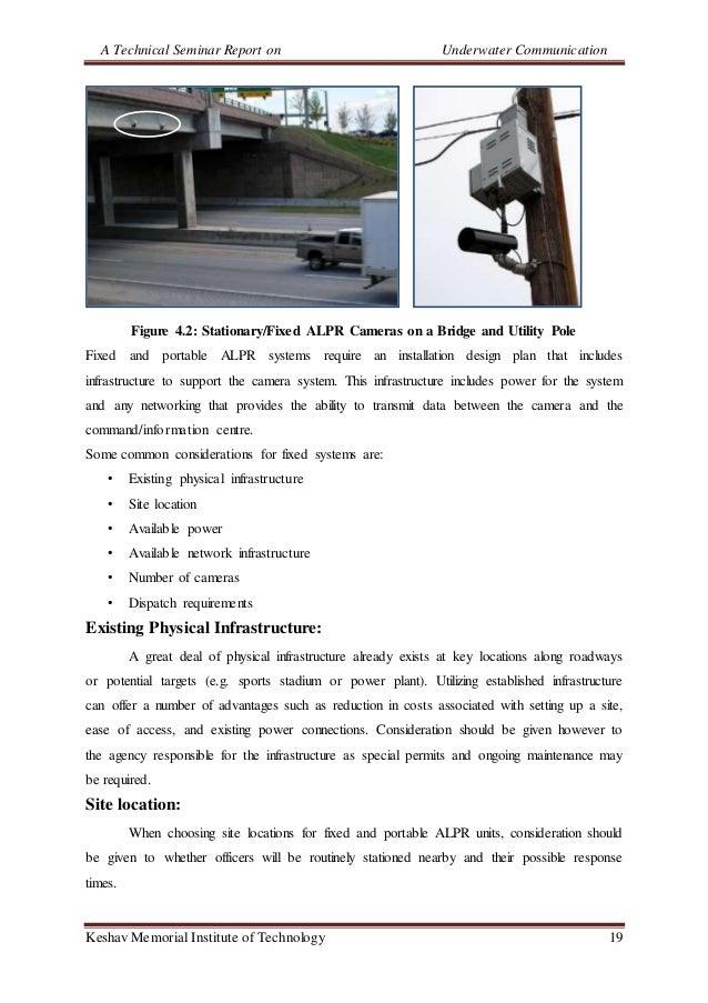 A Technical Seminar Report on Underwater Communication Keshav Memorial Institute of Technology 19 Figure 4.2: Stationary/F...