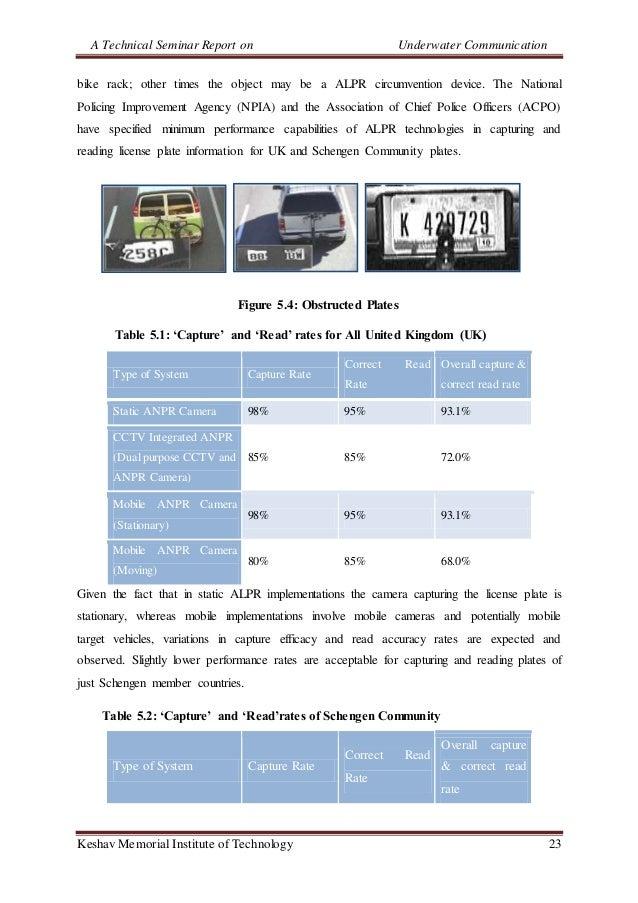 A Technical Seminar Report on Underwater Communication Keshav Memorial Institute of Technology 23 bike rack; other times t...