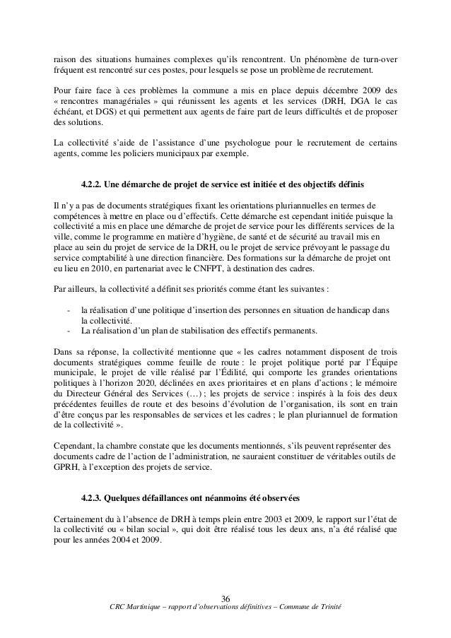 Le rapport de la chambre r gionale des comptes - Chambre regionale des comptes recrutement ...
