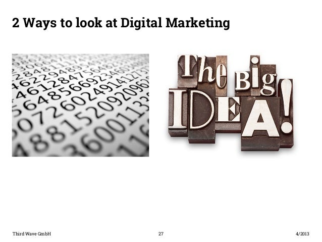 2 Ways to look at Digital Marketing  Third Wave GmbH 27  4/2013