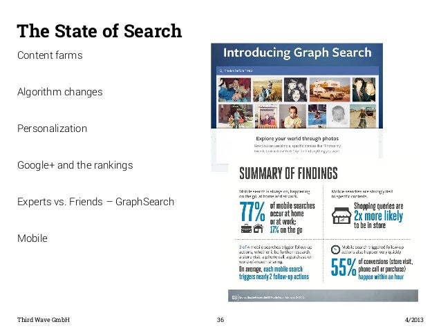 The State of Search  Content farms  Algorithm changes  Personalization  Google+ and the rankings  Experts vs. Friends – Gr...