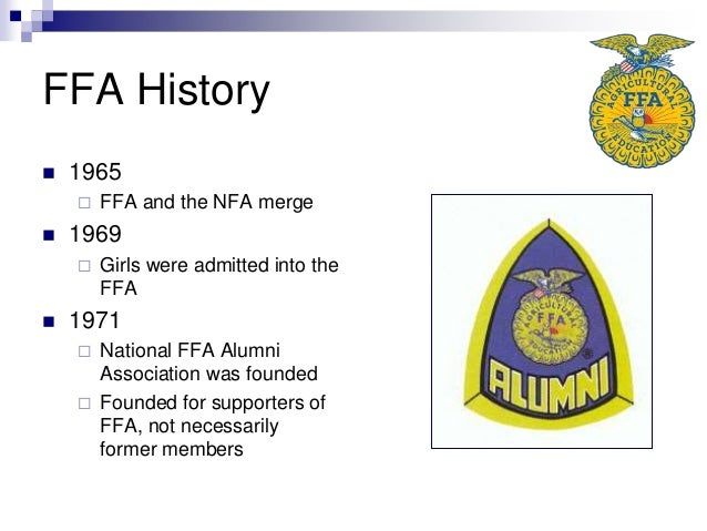 ffa and its history History of the ffa center ffa camp forms and documents directions to the nc ffa center group reservations the owl, long recognized for its wisdom, symbolizes the knowledge required to be successful in the industry of agriculture about us what is ffa ffa values.