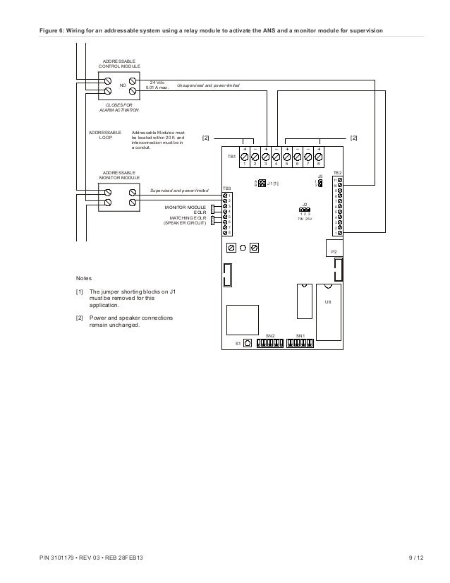 edwards signaling ans25mdr installation manual how to install a fire alarm pull station at Edwards Fire Alarm Wiring