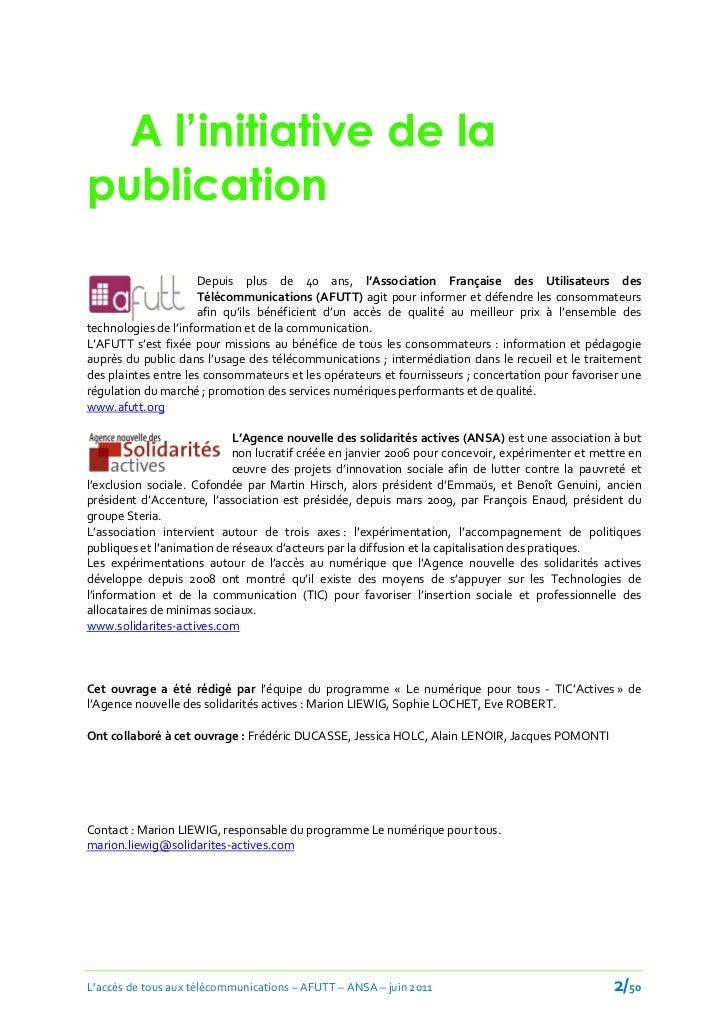 A l'initiative de lapublication                      Depuis plus de 40 ans, l'Association Française des Utilisateurs des  ...