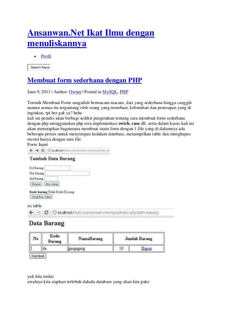 Source Code Web Sekolah Sederhana Dengan PHP