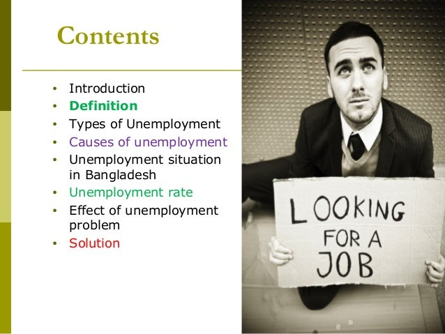 Unemployment Problem In Bangladesh