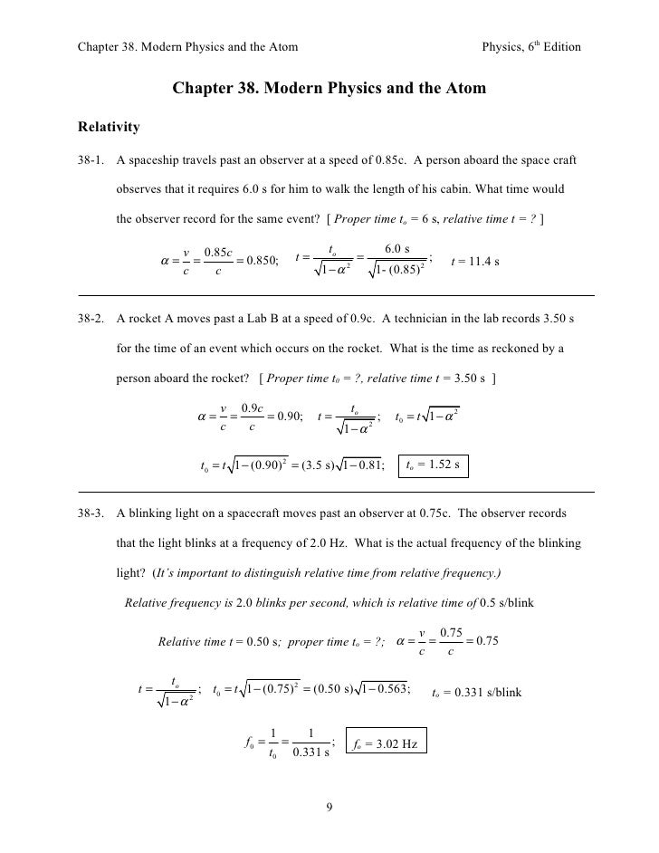 Chapter 38. Modern Physics and the Atom                                                       Physics, 6th Edition        ...