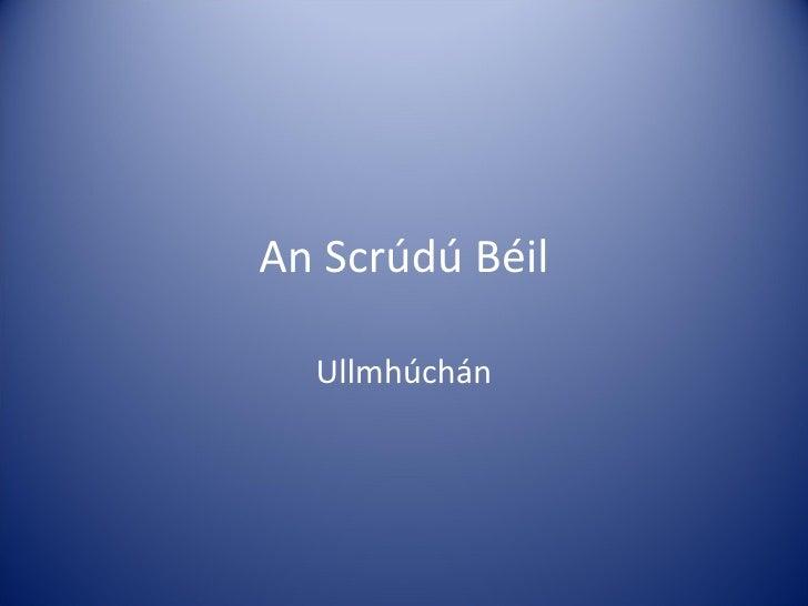 An Scrúdú Béil Ullmhúchán