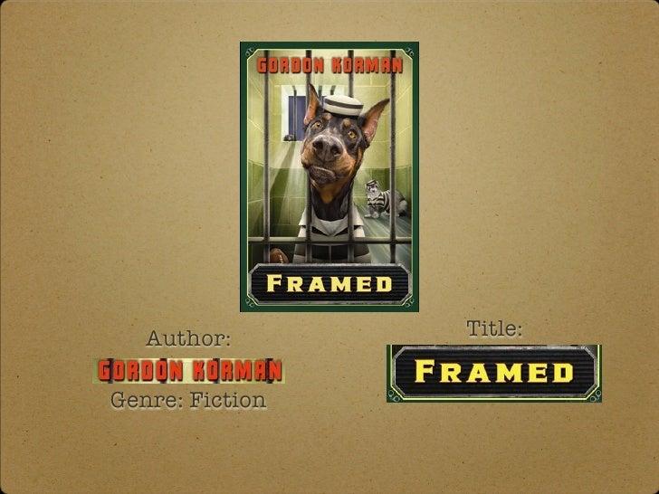 Author:       Title:Genre: Fiction