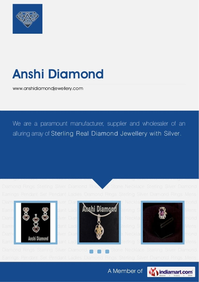 A Member ofAnshi Diamondwww.anshidiamondjewellery.comPendant Set Pendant Ladies Diamond Rings Sterling Silver Diamond Ring...