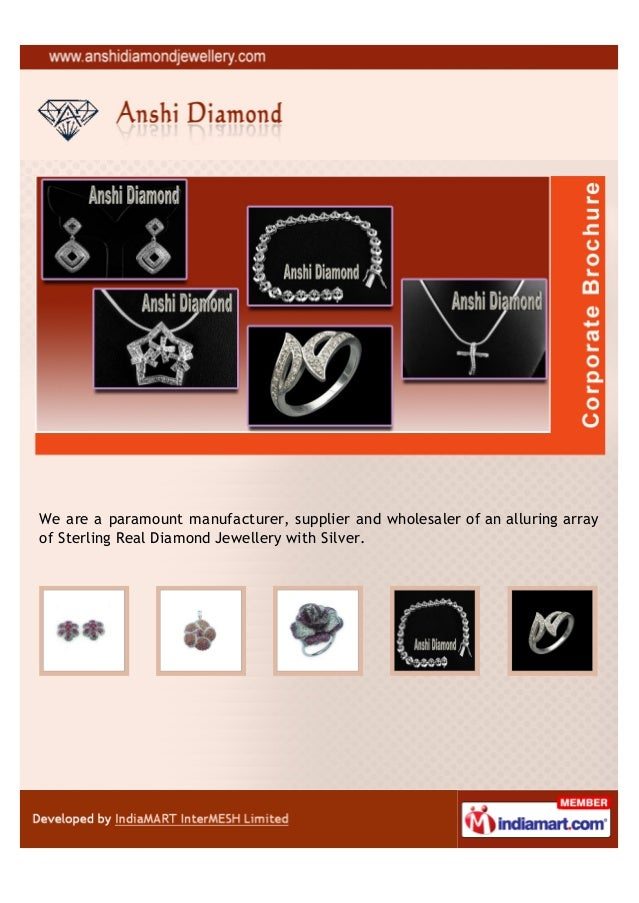 We are a paramount manufacturer, supplier and wholesaler of an alluring arrayof Sterling Real Diamond Jewellery with Silver.