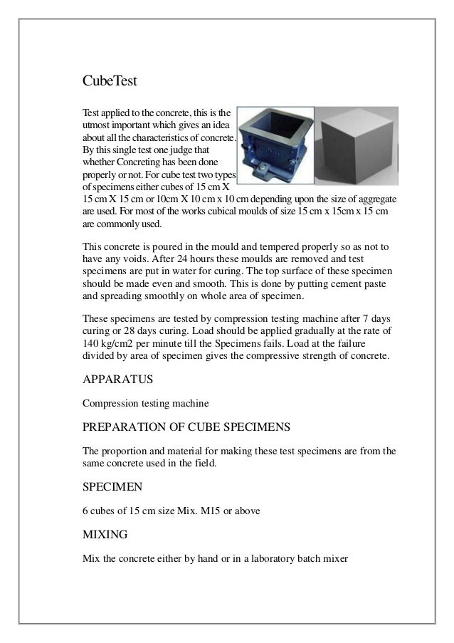 CubeTest Test applied to the concrete, this is the utmost important which gives an idea about all the characteristics of c...
