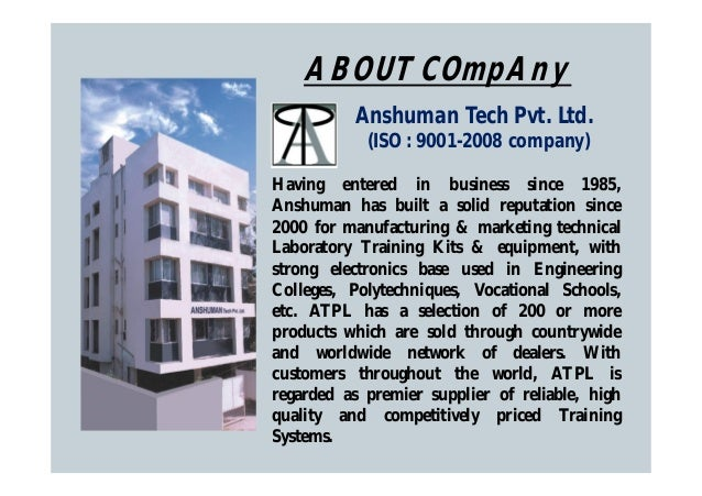 Anshuman Tech Private Limited, Pune, Training Equipment Slide 2
