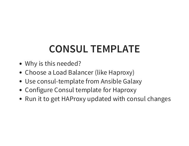 Ansible meetup 0915 for Consul template haproxy