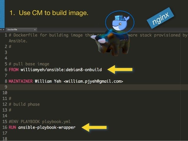 1. Use CM to build image. nginx