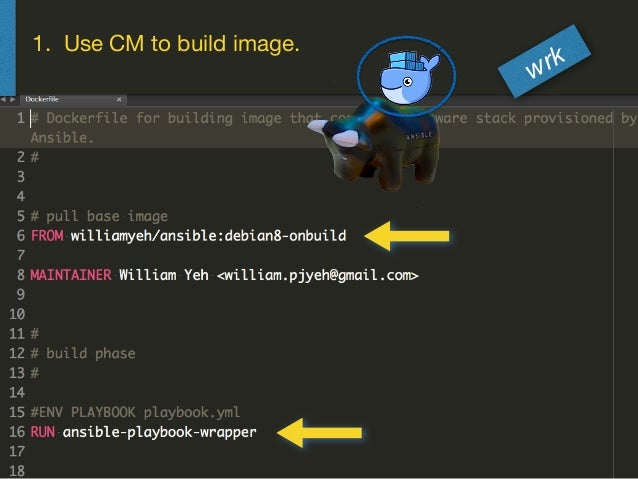 1. Use CM to build image. wrk