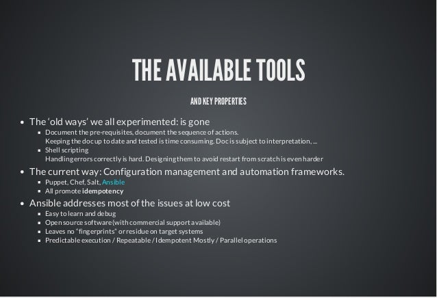 ansible a tool for dev ops
