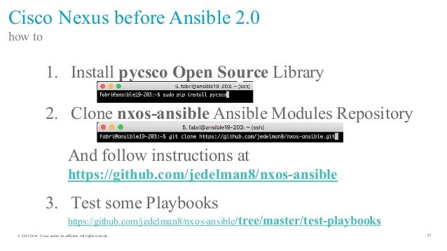 Managing Your Cisco Datacenter Network with Ansible