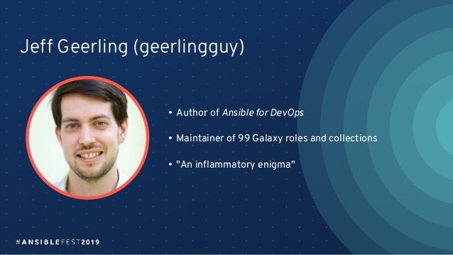 There's a role for that! (AnsibleFest 2019) Slide 2