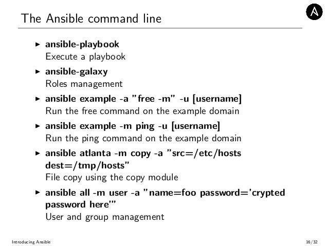 Introducing Ansible