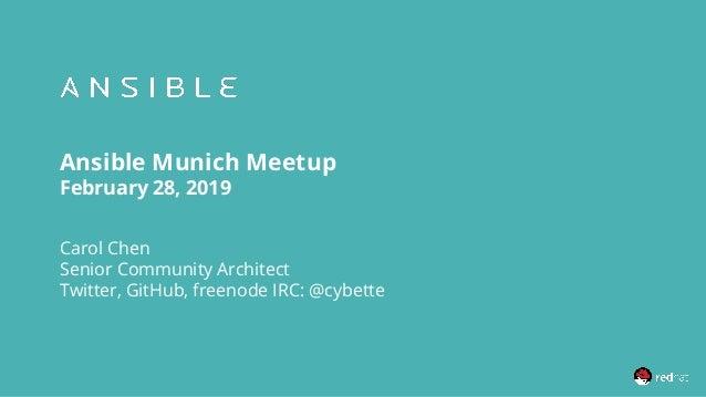 Ansible Munich meetup (Feb 2019) - Community update