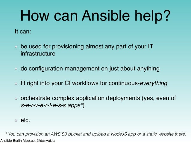 A quick intro to Ansible