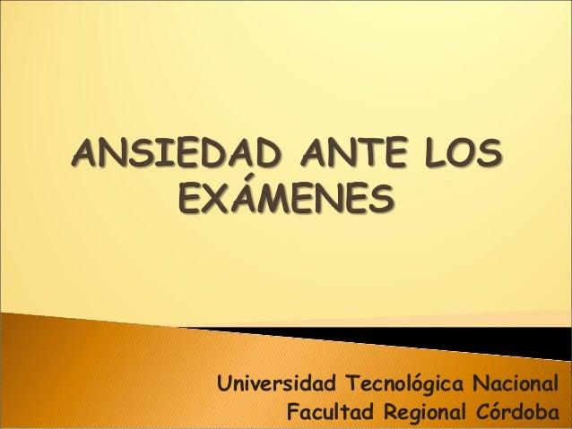 Universidad Tecnológica Nacional Facultad Regional Córdoba