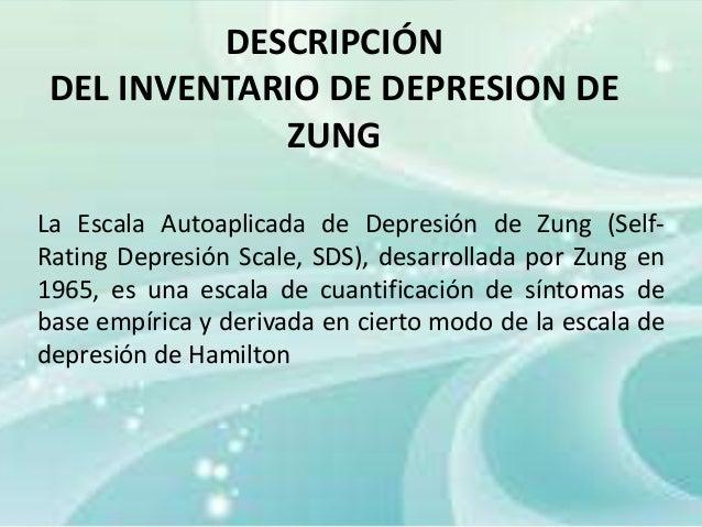 Ansiedad Y Depresion Zung