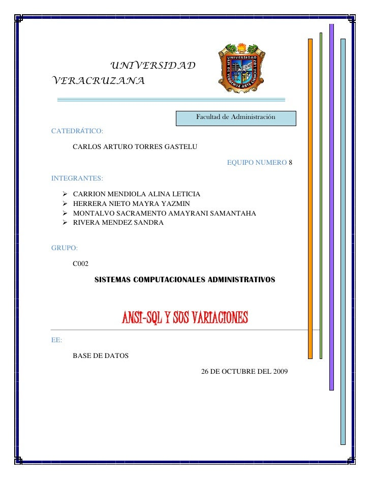 3493135-20320<br />                                UNIVERSIDAD VERACRUZANA<br />Facultad de Administración <br />CATEDRÁTI...