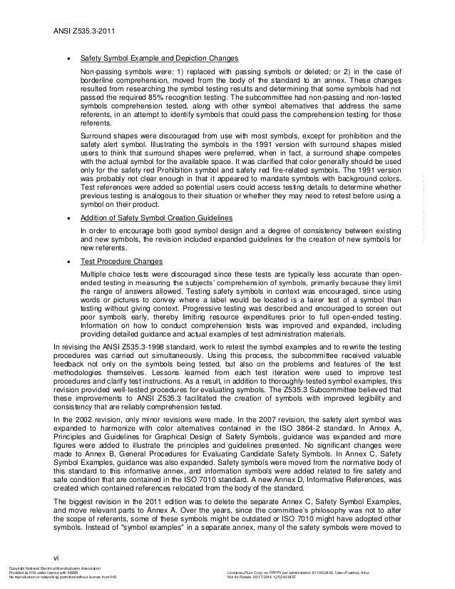 Ansi Z5353 2011 Criteria For Safety Symbols