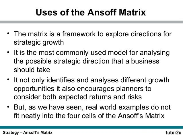 ansoff matrix of british petrolium Further analysis through the bcg group matrix and critical success factors of  project  and denmark commenced operations for dubai petroleum  establishment.