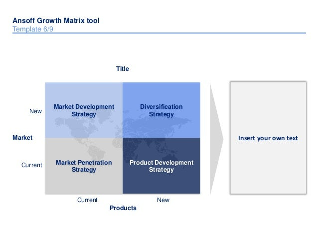Ansoff matrix template by ex mckinsey consultants 12 ccuart Choice Image
