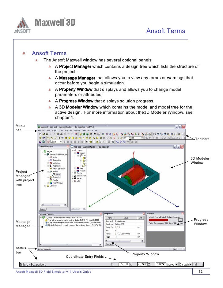 ansoft maxwell 3d v11 user guide rh slideshare net Maxwell 3D Ansoft Tutorial ansoft maxwell 3d v11 user guide