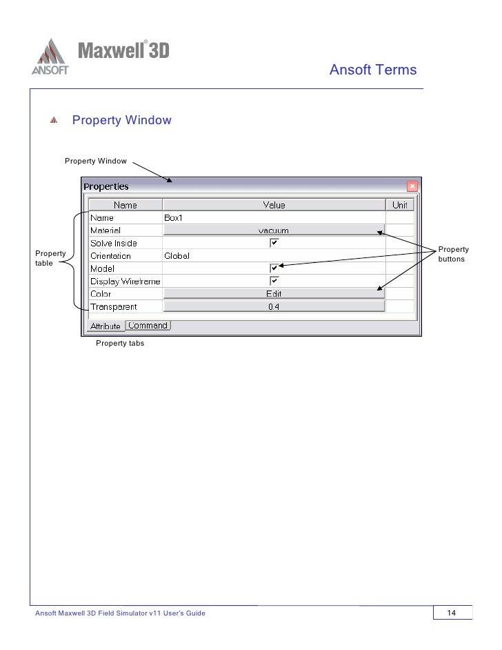 Ansoft Maxwell 3D v11 User Guide