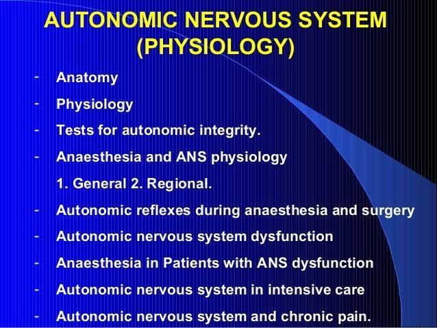 Ans physiology