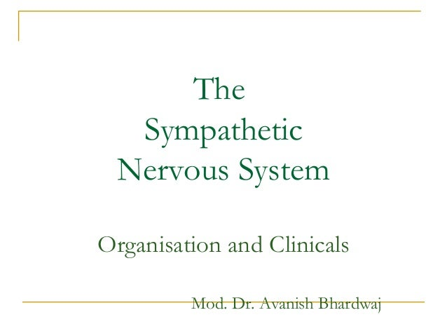 TheSympatheticNervous SystemOrganisation and ClinicalsMod. Dr. Avanish Bhardwaj