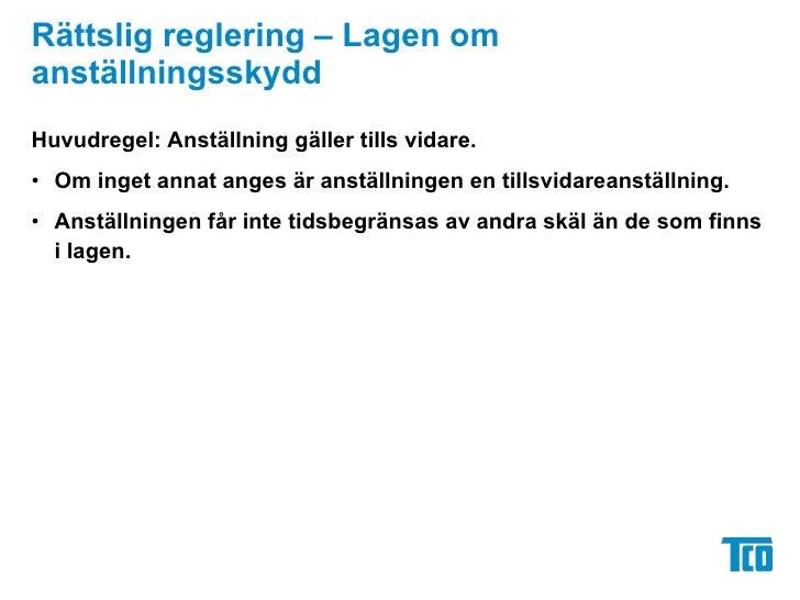 lagen om anställningsskydd norge