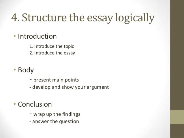 answering essay questions 7 4 structure the essay