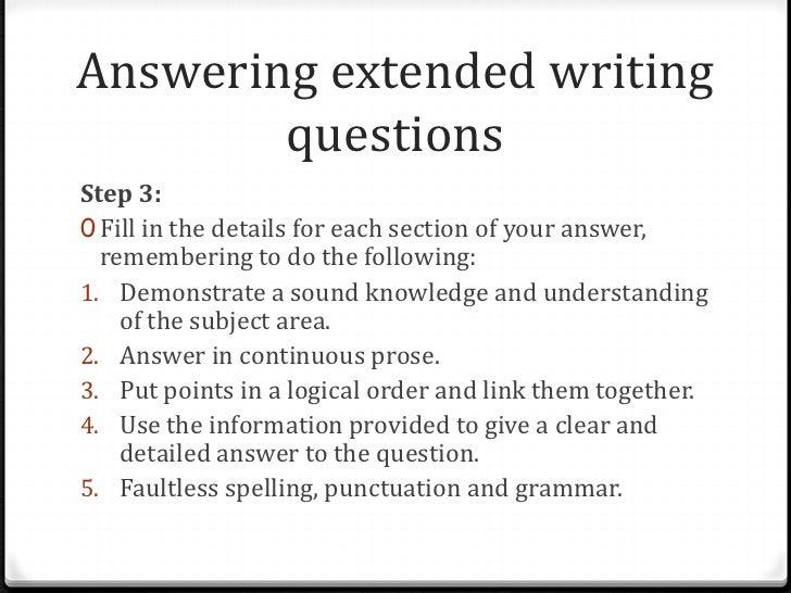 Preparing an essay answer