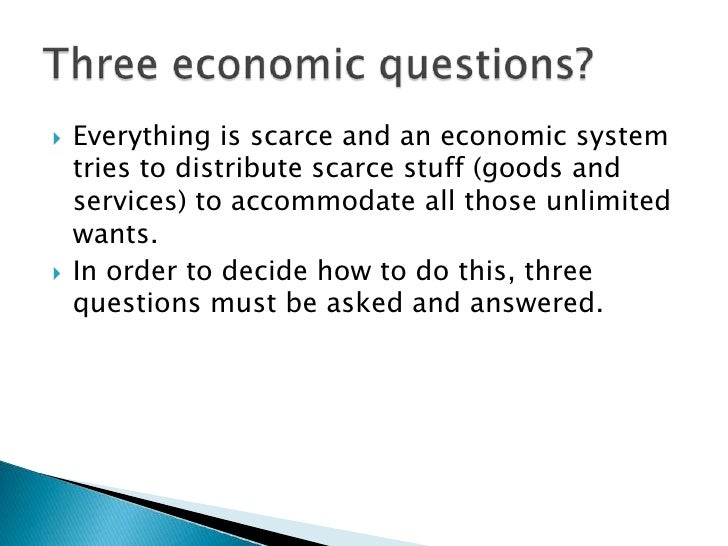 Economics question and answers