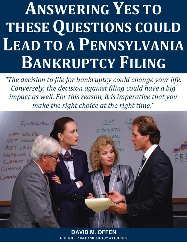 """""""The decision to file for bankruptcy could change your life. Conversely, the decision against filing could have a big impa..."""