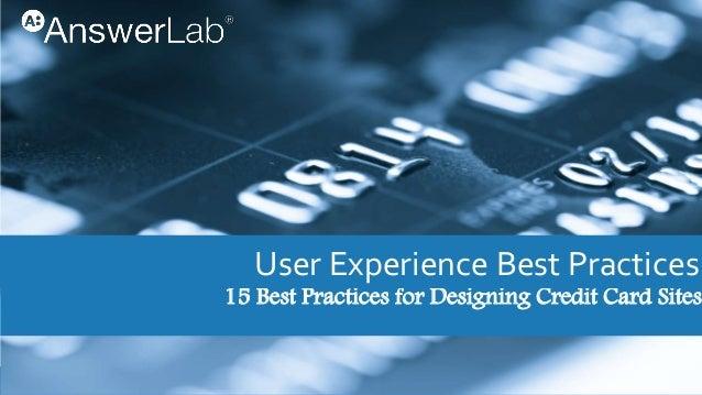 15 best practices for designing credit card sites