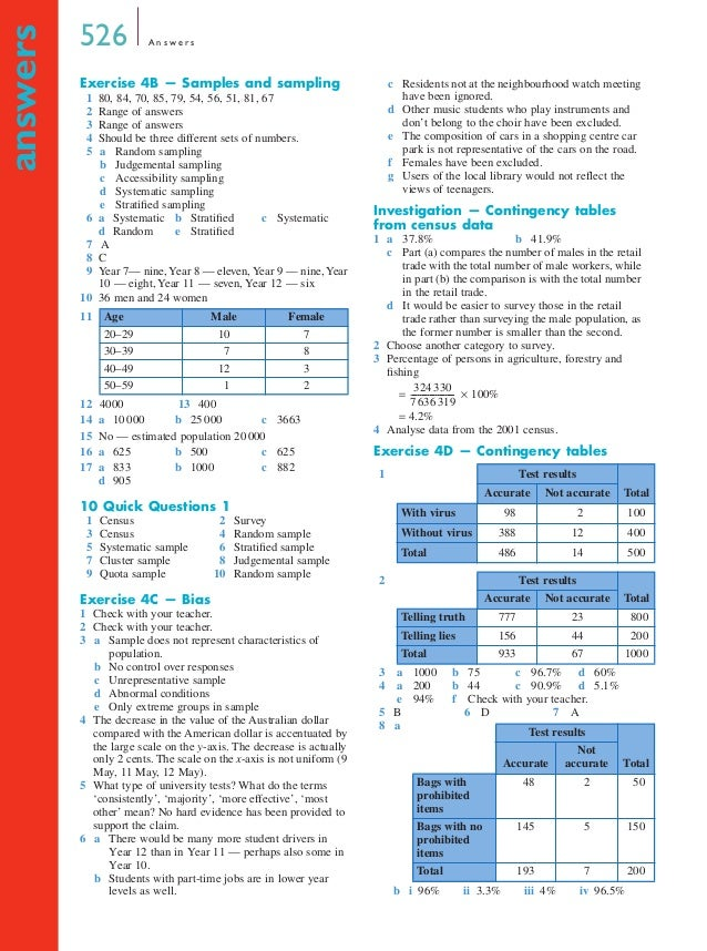 Year 12 Maths A Textbook - Answers