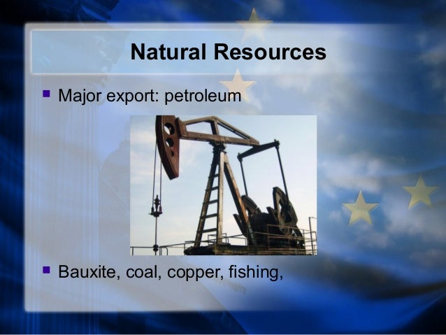 What Natural Resources Do The British Export