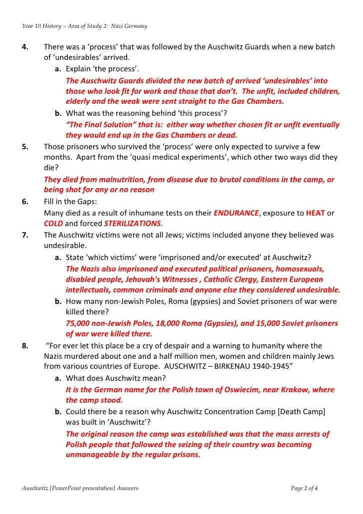 35 The Holocaust Worksheet Answers - Worksheet Iist Source